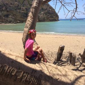 A la plage de Moya